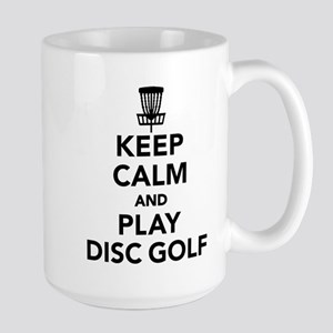 Keep calm and play Disc golf Large Mug